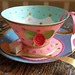 Pink rose teacup smaller