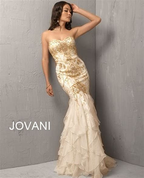 White/gold Jovani Mermaid gown   Dresses and gowns I dream