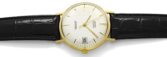 Foto 1, Herren-Armbanduhr, Gelbgold 14K Automatik Datum Sekunde, U1650