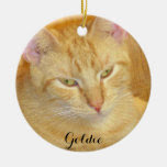 Meow Cats Double-Sided Ceramic Round Christmas Ornament