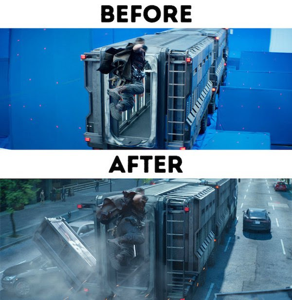 23 - 30 before and after special effects scenes