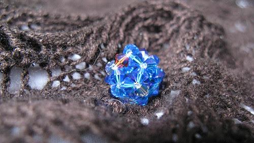 crystal ball on shawl