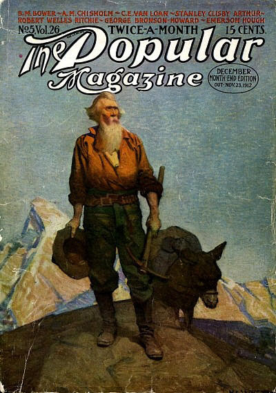 N.C. Wyeth cover for The Popular Magazine issue dated December 15, 1912, courtesy the FictionMags Index