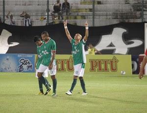 Ruy Cabeção marcou o primeiro gol com a camisa do Alecrim (Foto: Gabriel Peres/Divulgação)