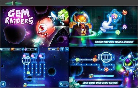 tải game Gem Raiders mod tiền miễn phí