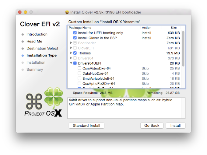 Installing Clover to your boot drive