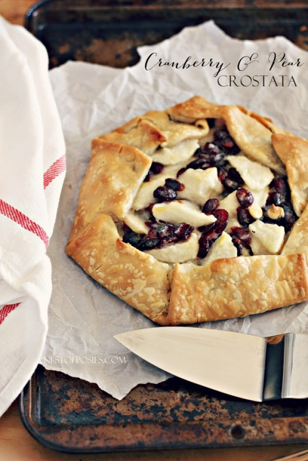 White Chocolate, Cranberry and Pear Crostata Dessert Recipe from Nest of Posies   Friday Favorites at www.andersonandgrant.com