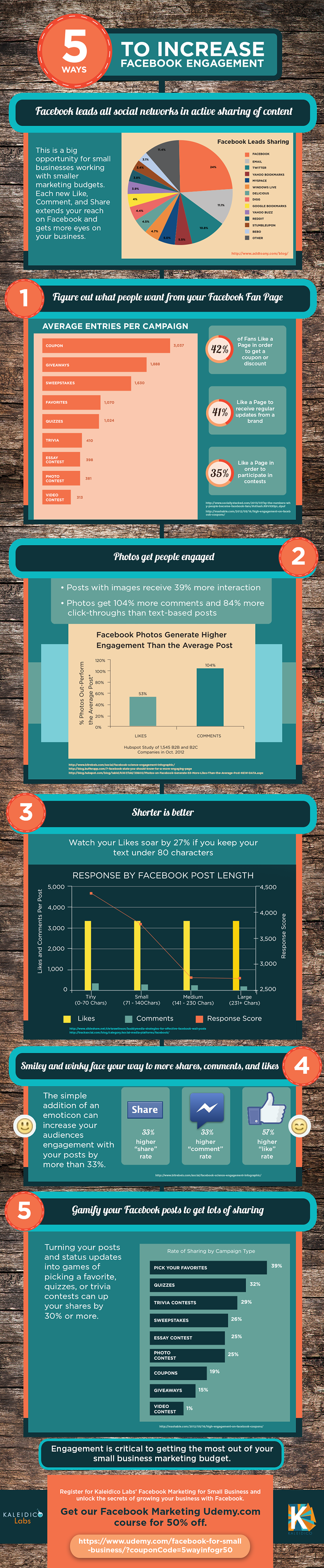 How to Increase Facebook Engagement - infographic