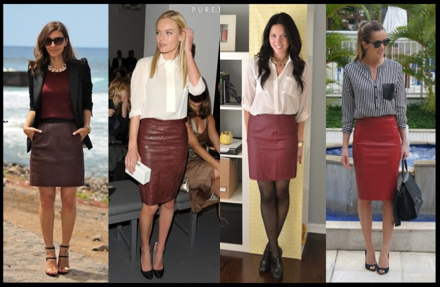 07_Como usar saia de couro_Look para trabalhar_saia de couro vermelha_saia de couro com camisa