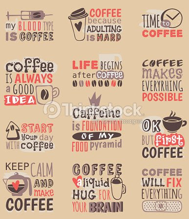 Dibujado A Mano Cafe Restaurante Amor Bebida Citar Frases Motivacion