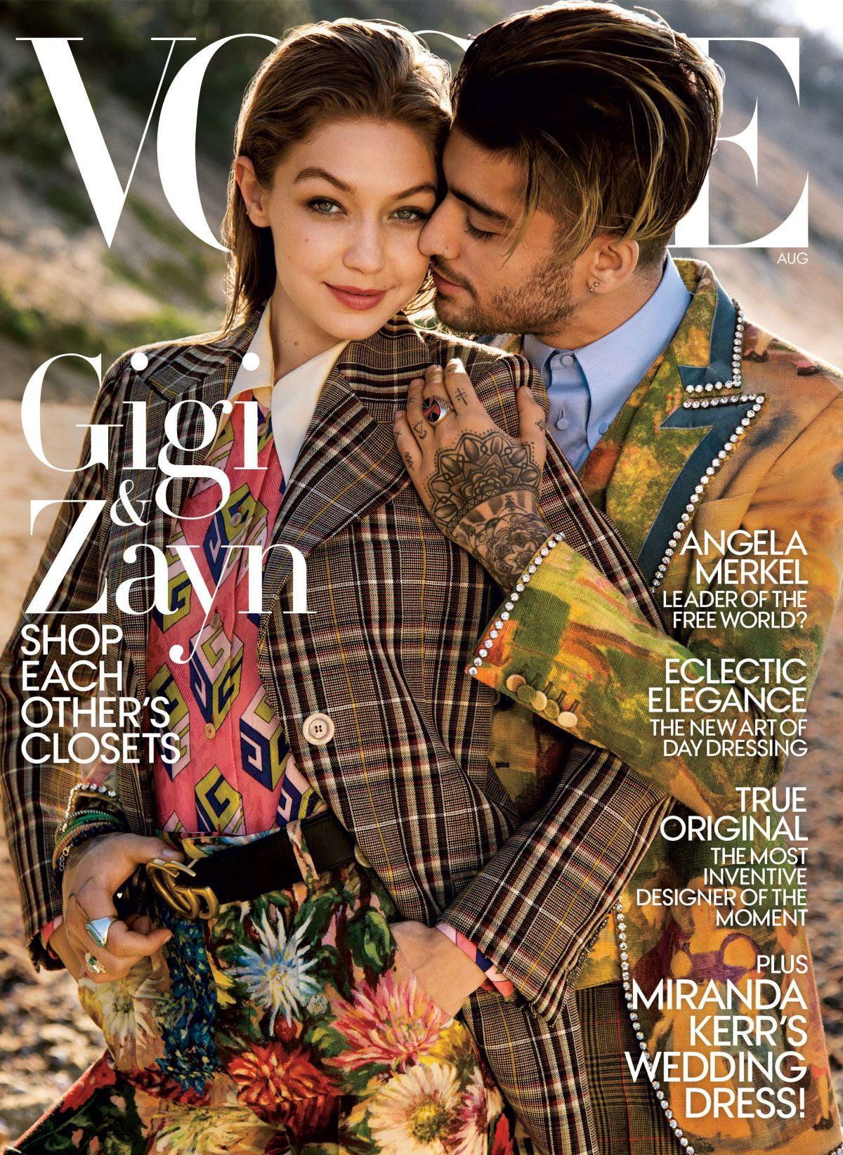 GIGI HADID in Vogue Magazine, August 2017