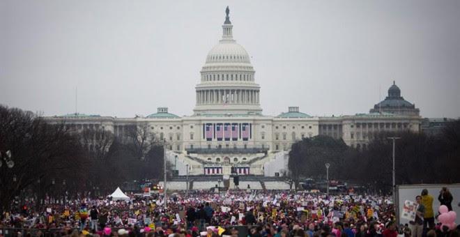 La Women´s March' ha congregado a unas 500.000 personas en Washington / EFE