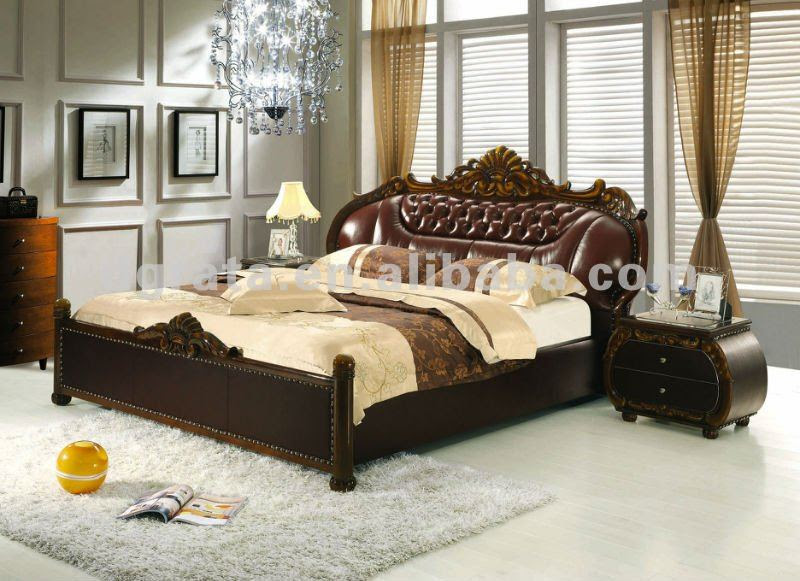 2012 New Design European Luxury Double Bed In Solid Wood And ...