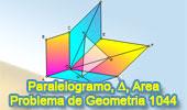 Problema de Geometría 1044 (English ESL): Paralelogramos, Puntos Medios, Triangulo, Área.