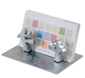 Working Together Magnetic Figurines Business Card Holder