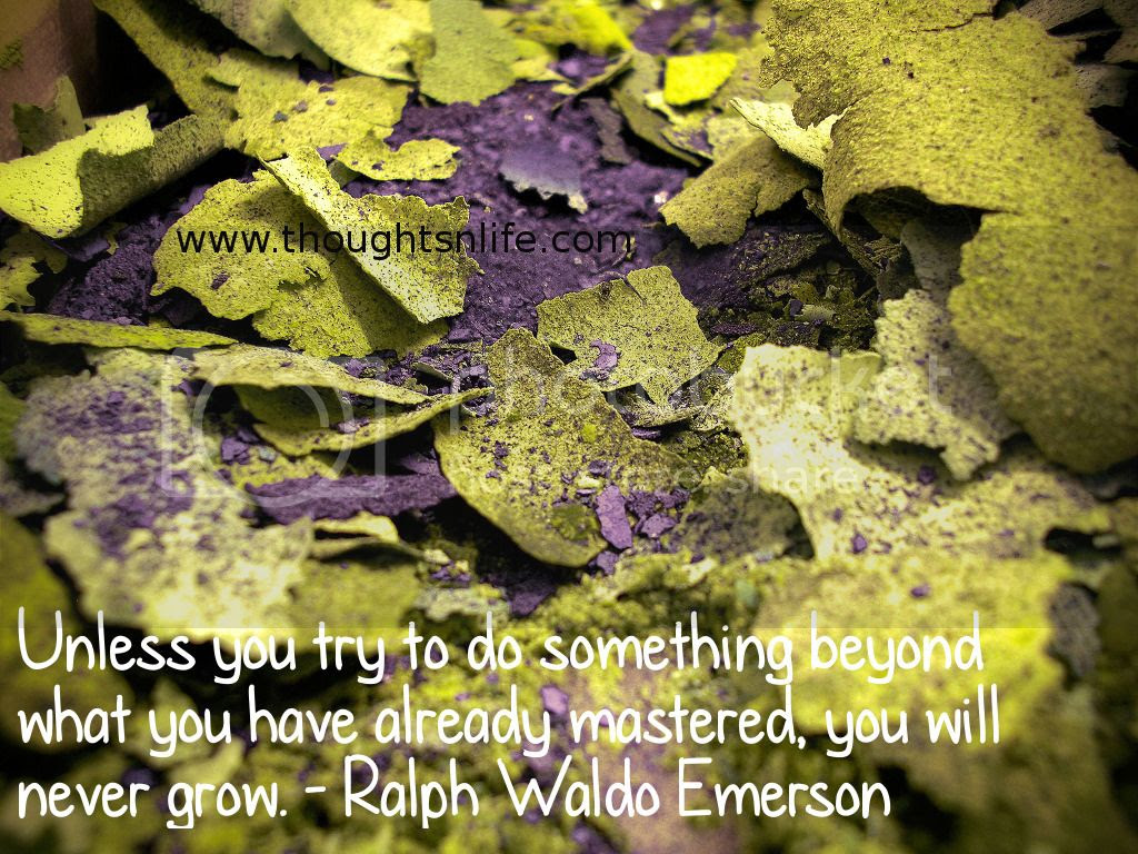 Thoughtsnlife.com : Unless you try to do something beyond what you have already mastered, you will never grow. - Ralph Waldo Emerson