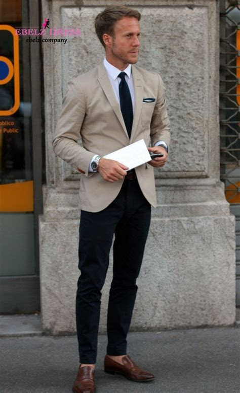 khaki casual short men suit tuxedos elegant men