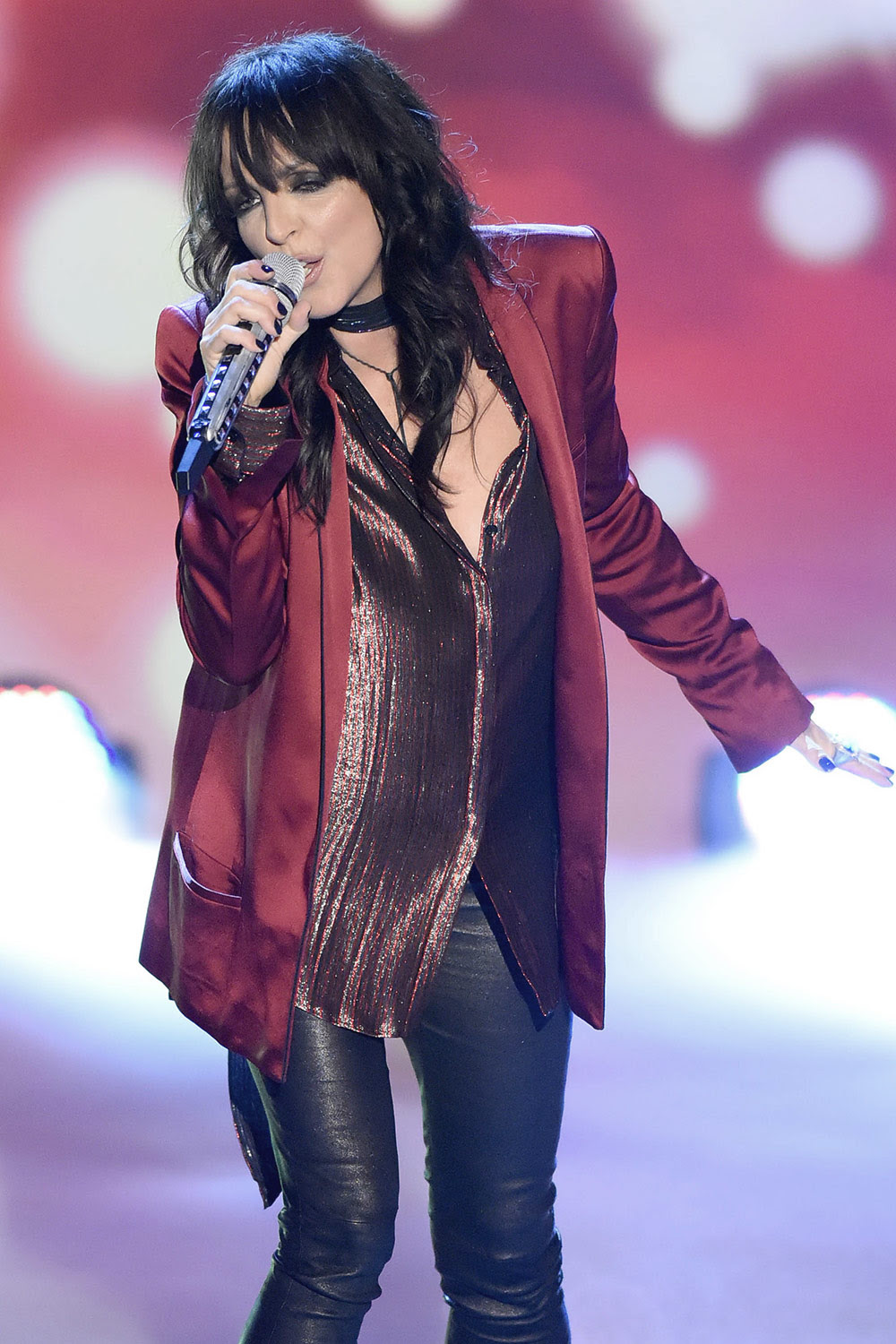 Nena at the german tv show Welcome - Leather Celebrities
