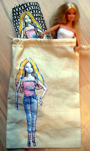 Barbie in a bag
