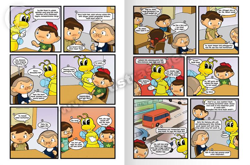 Komik  Buku Pendidikan Ilustrasi Buku Cerita