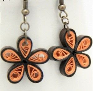 DIY Paper Quilled Flowers Earrings