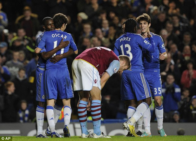 Relentless: Ramires scores his second in stoppage time