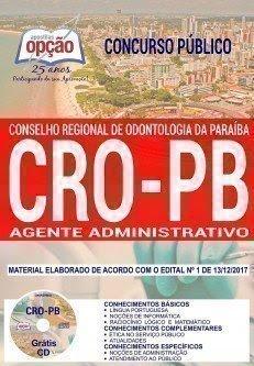 Apostila Concurso CRO PB 2018 | AGENTE ADMINISTRATIVO