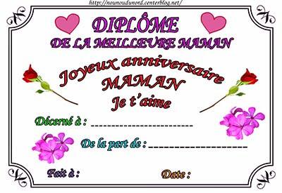 Carte D Anniversaire Pour Maman A Imprimer Gratuit Nanaryuliaortega News