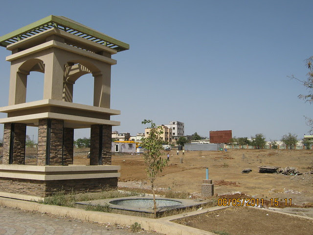 View of Karia Developers' site of Konark Meadows in RMC Garden, behind Moze College, at Wagholi, on Nagar Road in Pune