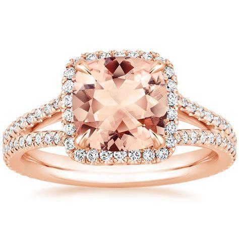 Morganite Fortuna Ring in 14K Rose Gold   Brilliant Earth