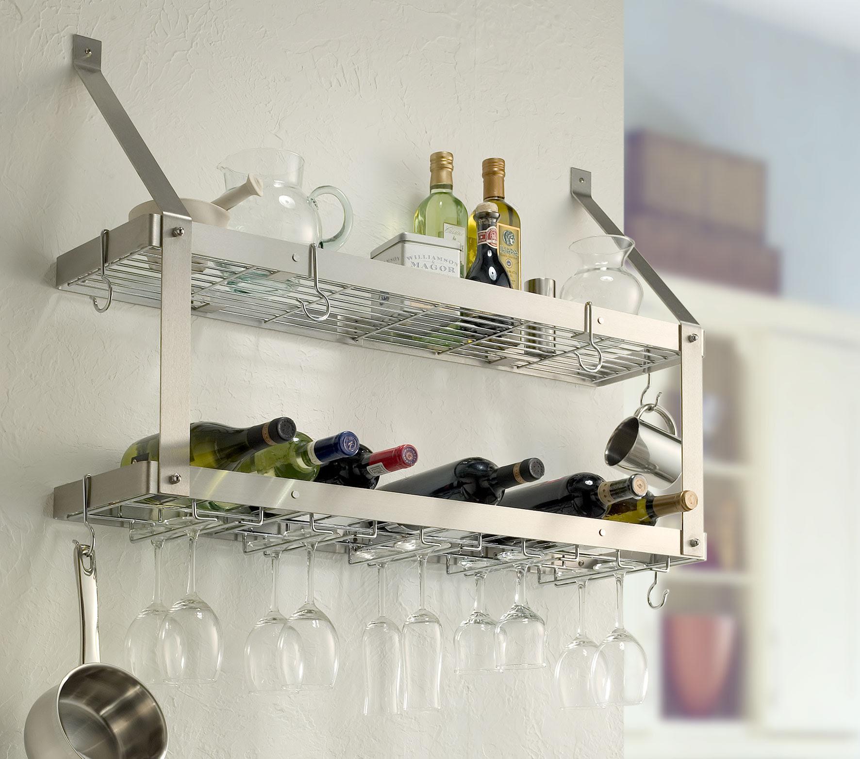 Wall Mounted Wine Rack Shelf