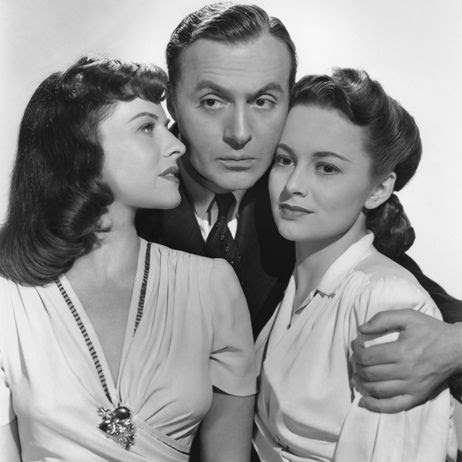 Paulette Goddard, Charles Boyer and Olivia De Havilland
