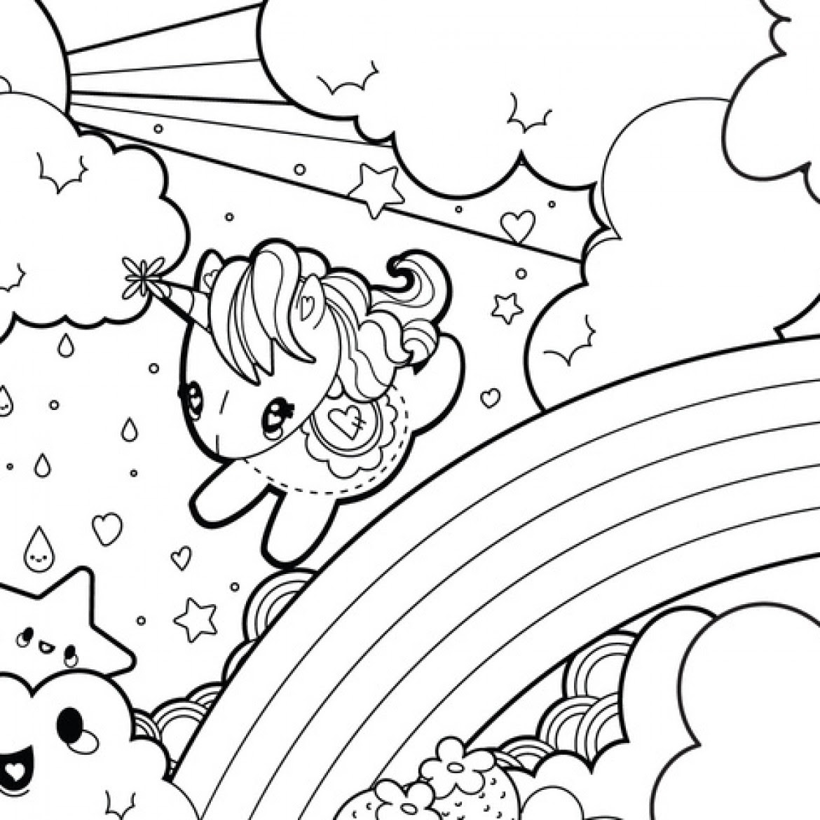Coloring And Drawing Free Unicorn Coloring Pages For Girls