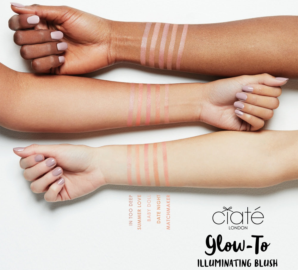 Ciaté London Glow-To Illuminating Blush Swatches