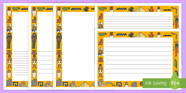 Ancient Egyptian Page Borders - Ancient Egyptian, history