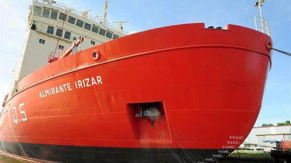 En reparaciones. Rompehielos Almirante Irizar. Está fuera de servicio desde 2007.