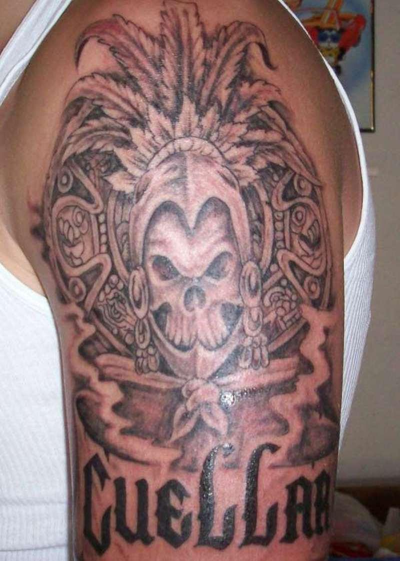 Aztec Temple Tattoo aztec sleeve tattoo designs - best tattoo ideas