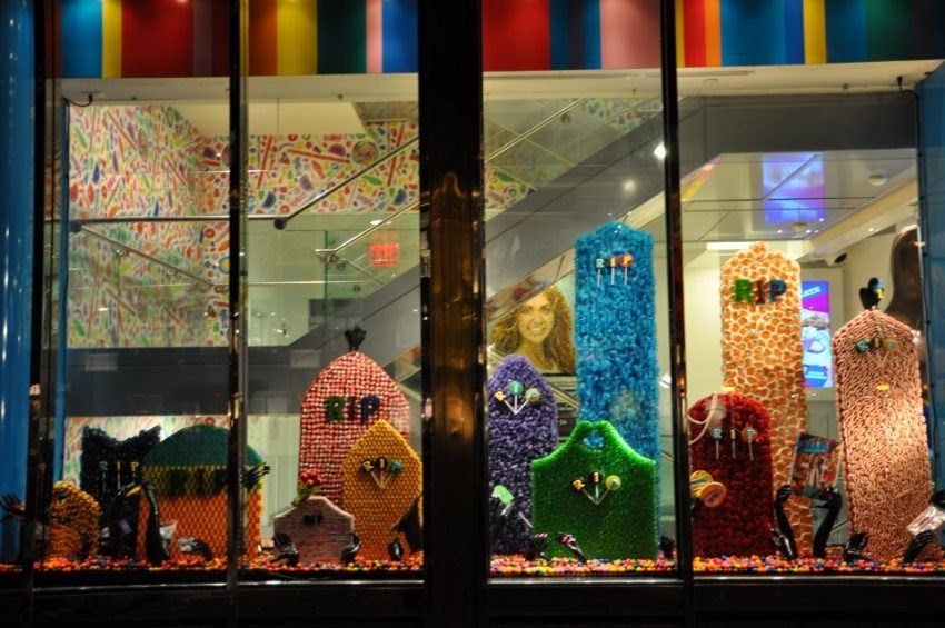 25 Examples of Halloween Retail Displays to Inspire You - Graveyard Candy Display - Halloween Retail Displays - Halloween Retail Ideas - Halloween Display Ideas