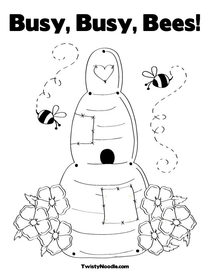 1000+ images about bee coloring pages on Pinterest ...
