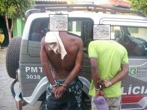 Presos suspeitos de estuprar adolescentes em Jericoacoara. (Foto: Polícia Militar/Divulgação)