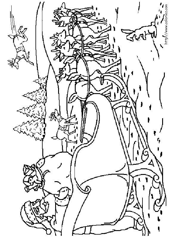 Coloriage Coloriage Du Traineau Du Père Noël