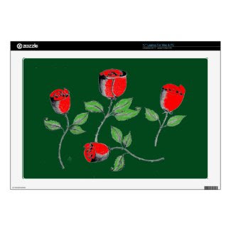 17 Inch Laptop Skin with Roses