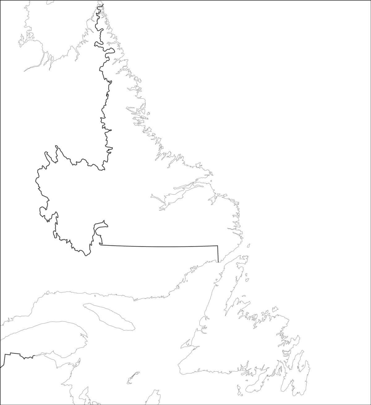 Carte De Terre Neuve Et Labrador