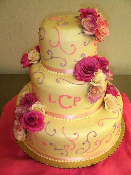 File:Colorful three tiered wedding cake LCP.jpg