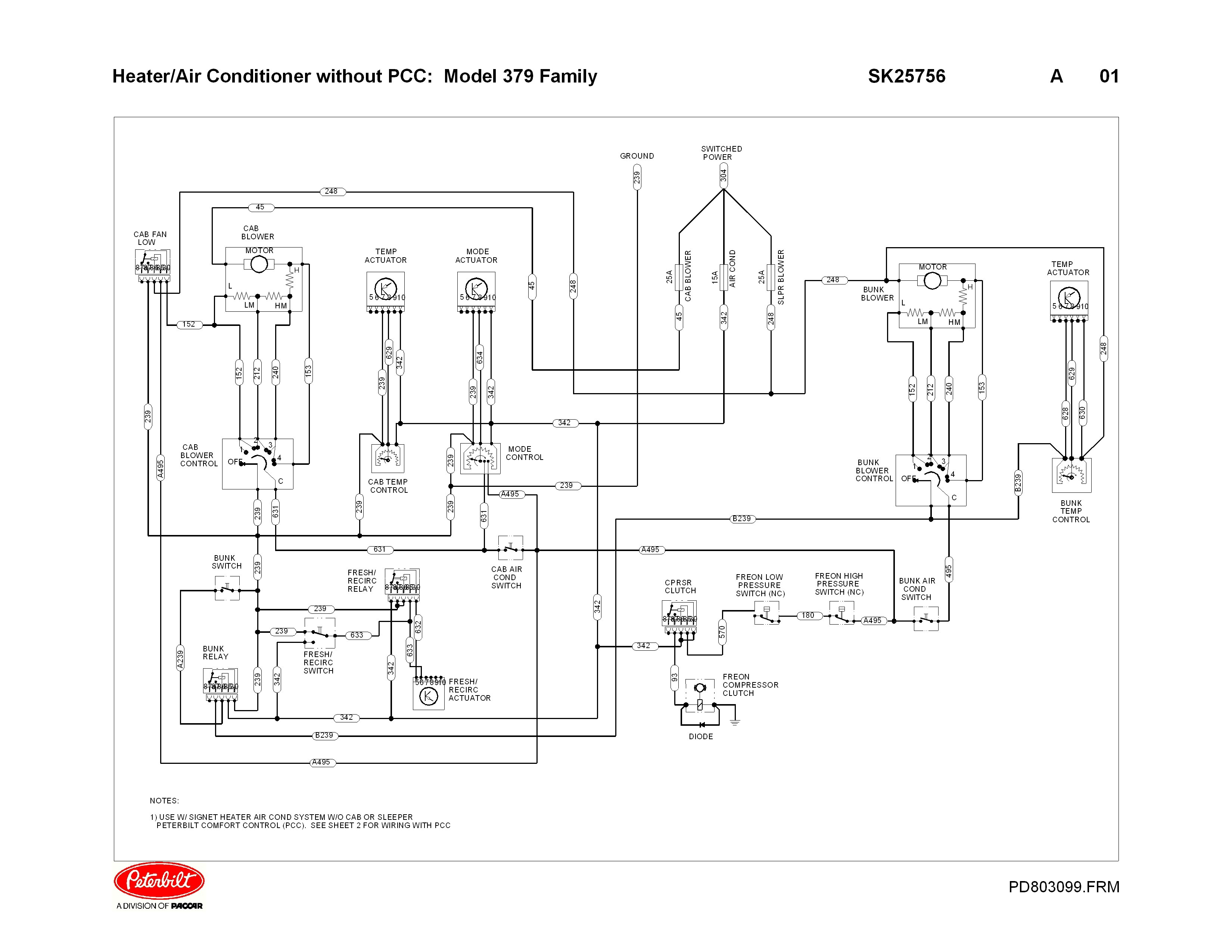 Peterbilt Ac Wiring Diagram   Home Wiring Diagram