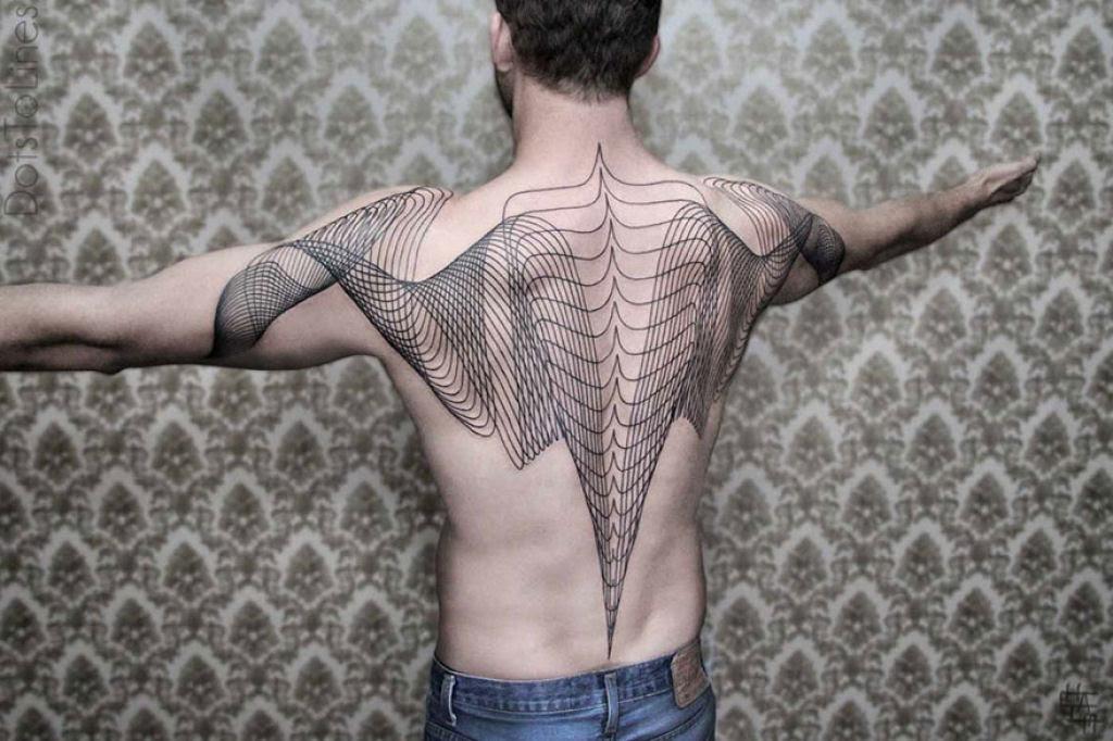 Estas 20 tatuagens lineares geométricas feitas por Chaim Machlev flutuam elegantemente pelo corpo 01