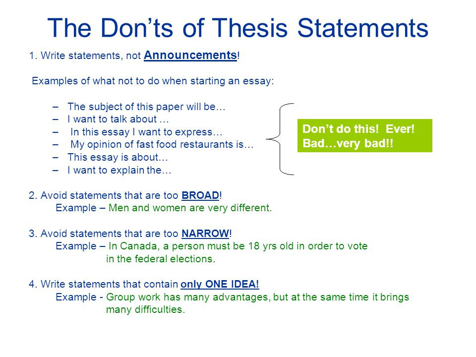 how to write a good thesis essay