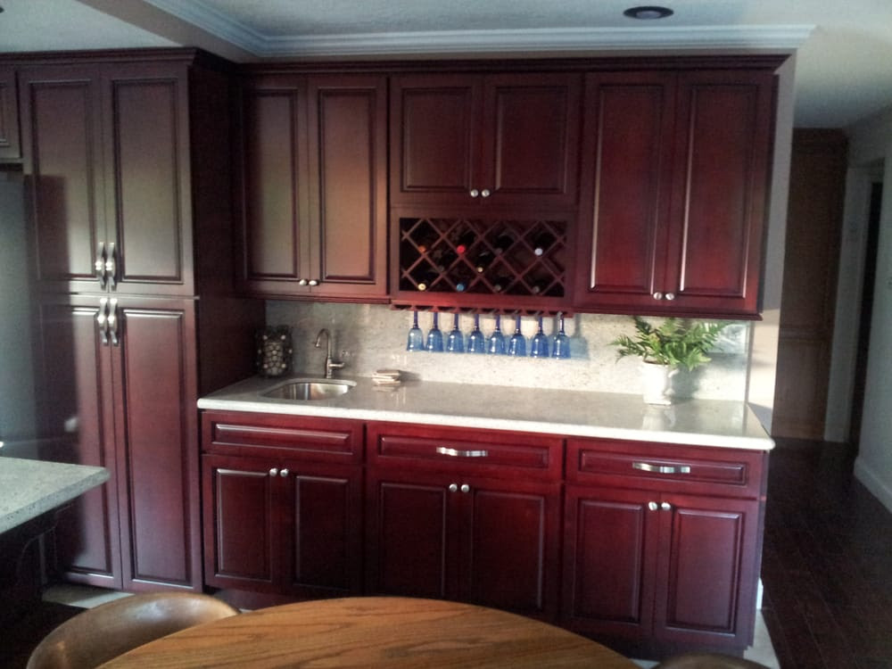 Stunning Maple Cherry Kitchen Cabinets, with Kashmire ...