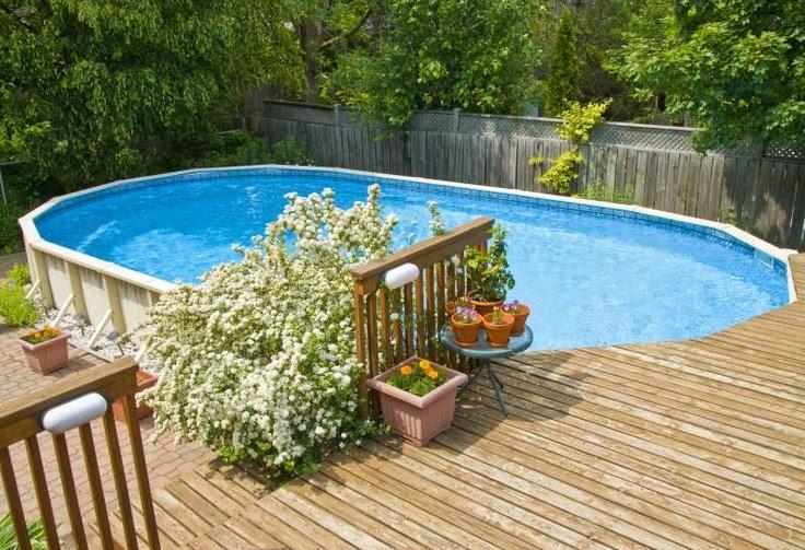 Above ground pool ideas backyard