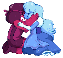 re-done and re-size of an old pixel that i didn't rly like anymore i still love this couple even if it does bring back some,,,,rather sad memories steven universe isnt rly my thing anymore but i lo...